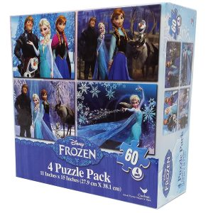 6. Frozen 60-Piece Puzzle (4-Pack)