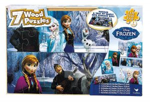 9. Disney Frozen 7 Wood Puzzles