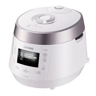 7. Cuckoo CRP-P1009SW 120V 10 Cup Electric Pressure Rice Cooker, White