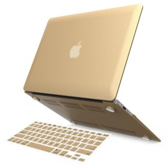 "iBenzer Basic Soft-Touch Series Plastic Hard Case & Keyboard Cover for Apple Macbook Air 11-inch 11"" A1370/1465 (Gold)"