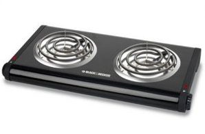 BLACK+DECKER DB1002B Double Burner